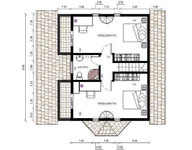 115 square meters house plans - Meter wide house plans ...